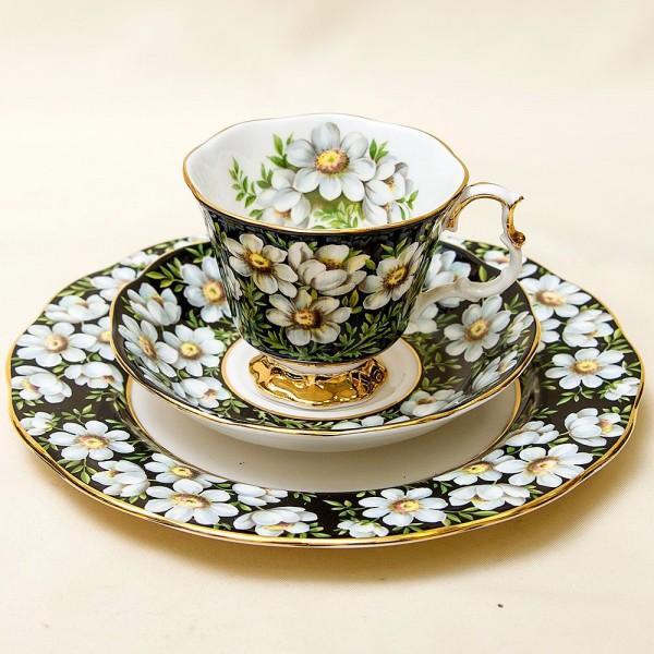 Чайная пара+Тарелка (Тройка) «Дриада» Фарфор ROYAL ALBERT, Англия -1975 год.