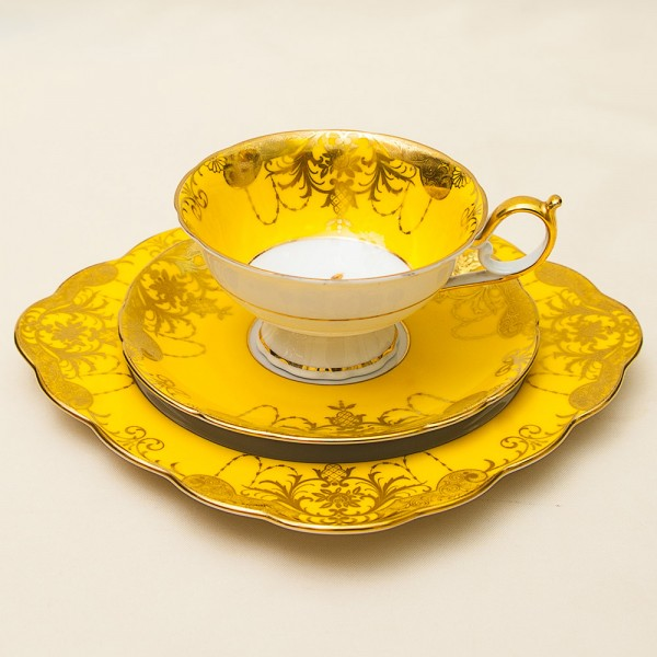 Чайная пара+Тарелка (Тройка) Фарфор TETTAU. Германия - 70-е годы ХХ века.
