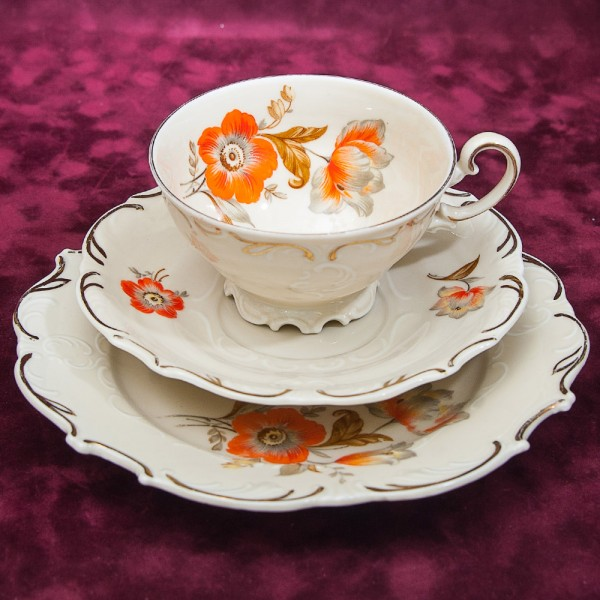 Коллекционная Чайная пара+Тарелка (Тройка) Фарфор Heinrich Winterling G.m.b.H&Co Германия.