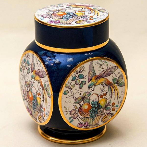 Коллекционная Чайница «Райский Сад» Фарфор Carlion Ware, Англия - 1980 год.