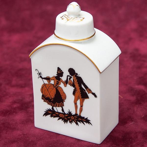 Коллекционная Фарфоровая Чайница «Дама с Кавалером» Furstenberg, Германия 70 -е годы ХХ века.