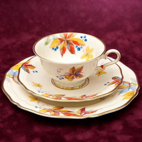 Коллекционная Чайная пара+Тарелка (Тройка) Фарфор РОЗЕНТАЛЬ ROSENTHAL 1943-1948гг.