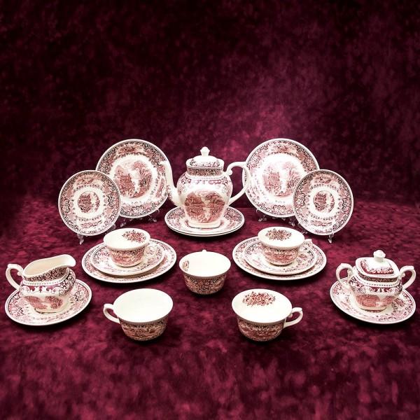 Классический Чайный сервиз «Cambrige. Old England» 5-ть персон -18 предмет Фарфор Myott Son&Co, Англия.