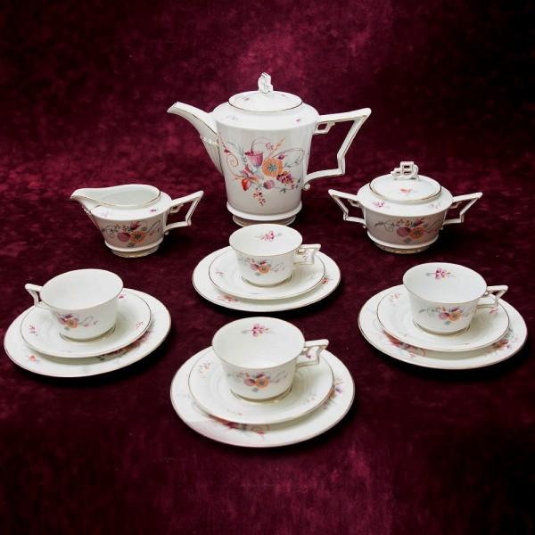 Чайный сервиз «TIRANA» на 4-е персоны Фарфор Розенталь / Rosenthal Германия -1930 год.