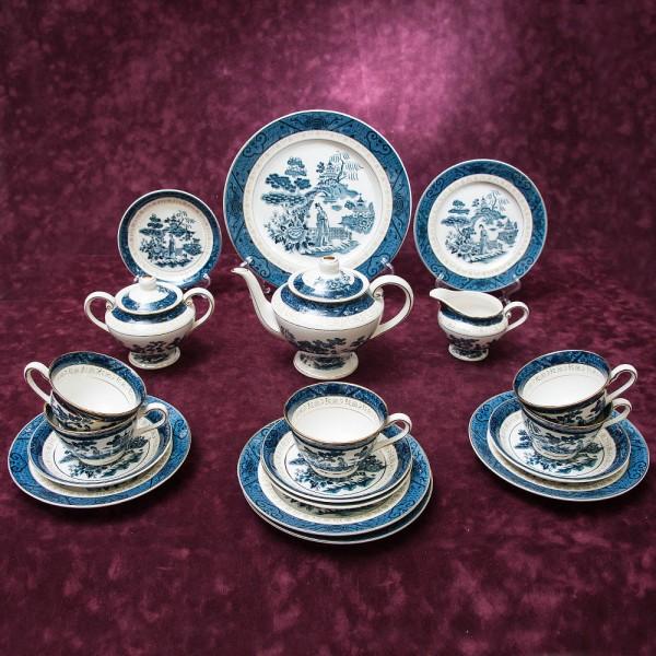 Фарфоровый Чайный Сервиз на 5-ть персон 19 предметов, NIKKO Ironstone Япония, 60 -е годы XX века.
