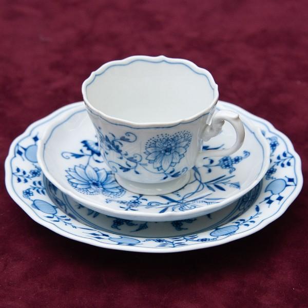 Коллекционная Чайная пара+Тарелка (Тройка) Фарфор MEISSEN / МЕЙСЕН Германия.