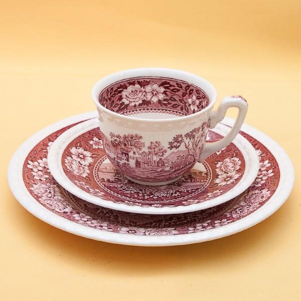 Чайная пара+Тарелка (Тройка) «Rusticana» Фарфор VILLEROY&BOCH, Германия 50-е годы.