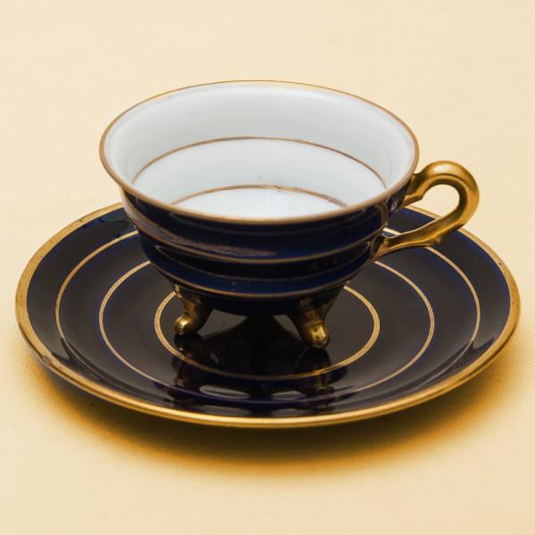 Антикварная Коллекционная Фарфоровая Кофейная Пара Turigische Porzellan Германия -1905 -1909гг.