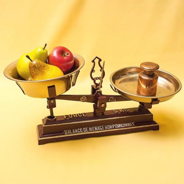Винтажный Кухонно - Аптекарские весы с чашками FОRCE на 5кг. Франция начало ХХ века!