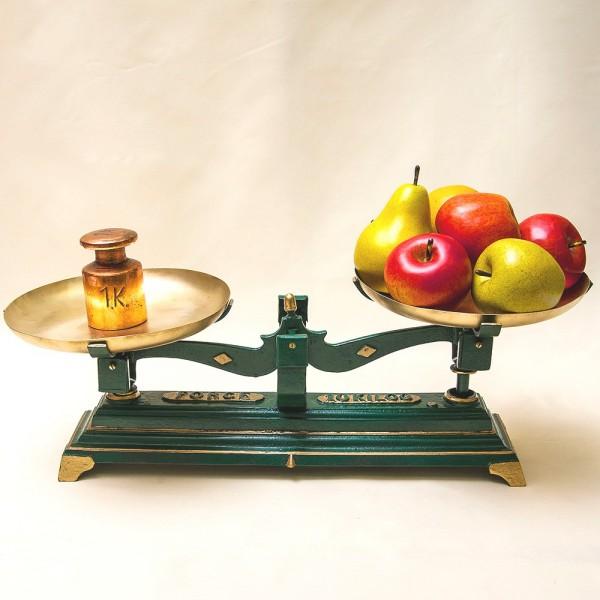 Старинный Кухонные Весы с чашками FОRCE на 10кг. Франция начало ХХ века!