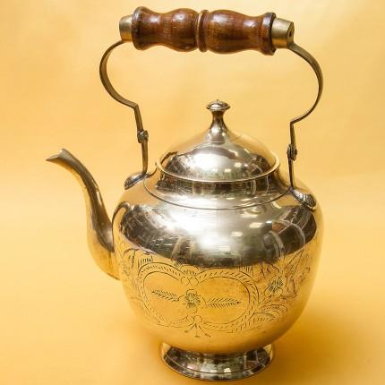 Винтажный Латуный Заварочный Чайник на 2,5 литра, Бельгия середина ХХ века!