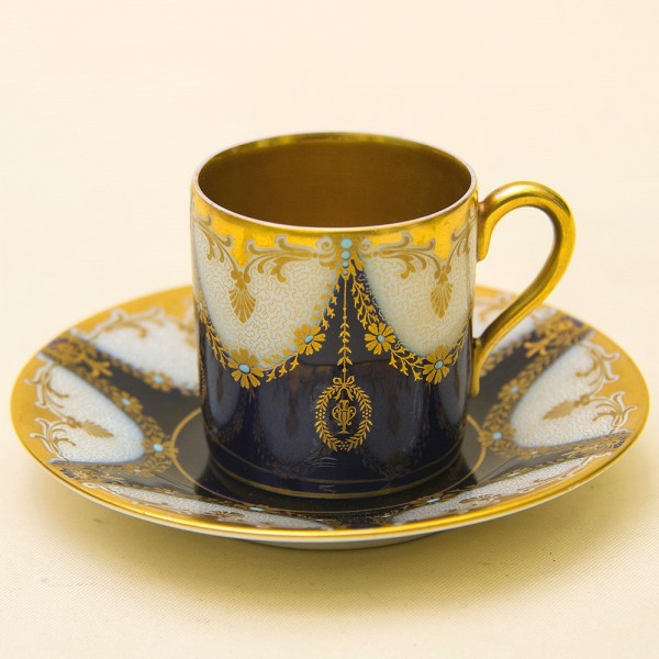 Коллекционная кофейная пара «Royal coffee», Фарфор, Розенталь Rosenthal, Германия, 20 -е годы ХХ века.
