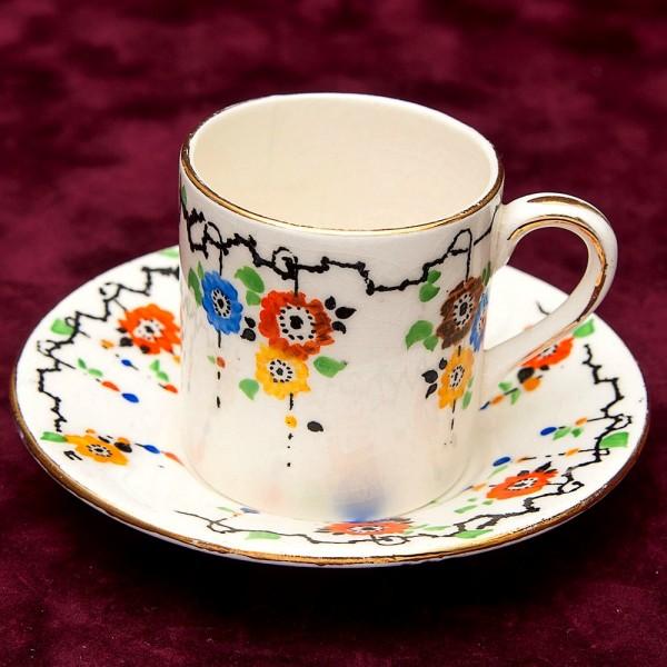 Редкость! Коллекционная Кофейная Пара Фарфор RP-COIYD Шотландия 30 -е годы ХХ века..
