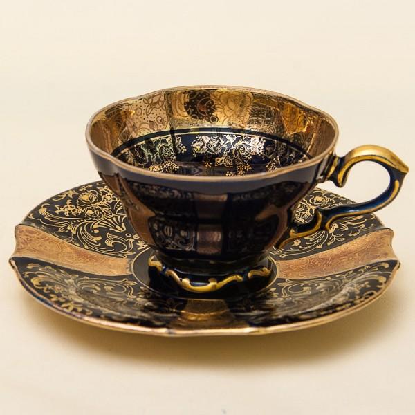 Коллекционная Кофейная Чашка «Золотое Барокко» Фарфор Германия LINDNER Kueps -60гг.