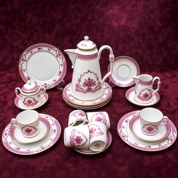 Кофейный Сервиз «Розовый Сад» на 6 персон, 21 предмет, Фарфор Hochster Porzellan Германия..