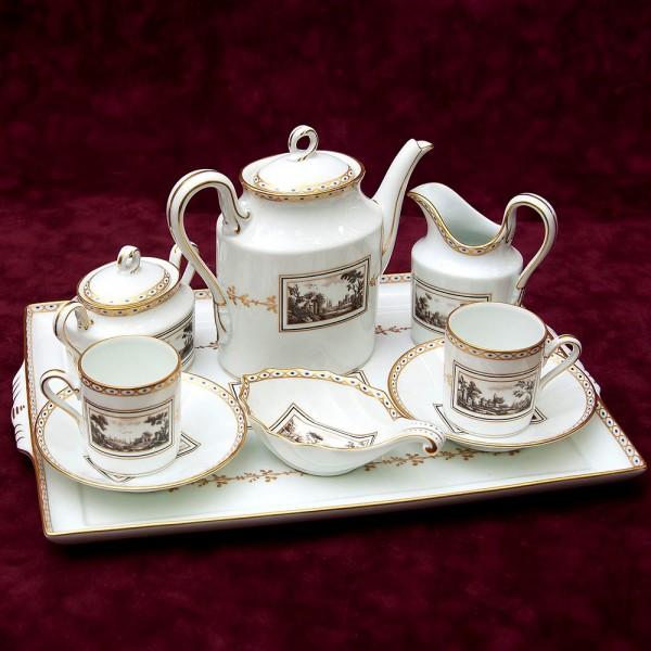 Кофейный сервиз «Тет-а-Тет» - «FIESOLE» Фарфор RICHARD GINORI, Италия 70-е годы ХХ века.