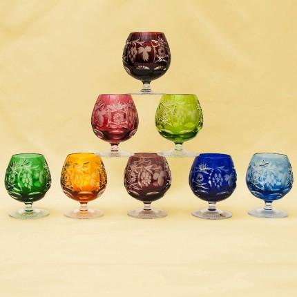 Полный Набор, все 8-мь Цветов, Бокалы для Коньяка, серия «Виноград» Хрусталь, NACHTMANN Германия.