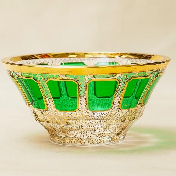 Орешница - Вазочка - Конфетница из серии «Зелёный Изумруд», ERNST WITTIG, Германия.