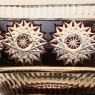 Ваза-Конфетница «ЛАДЬЯ» Цветной Хрусталь JOSKA BODENMAIS Германия 60-е гг.