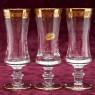 Набор из 6-ти Хрустальных Бокалов для Шампанского, Murano Италия, середина ХХ века.