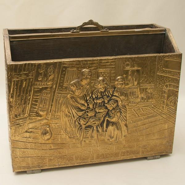 Старинная Латунная «Газетница» - Ящик - Короб  Англия начало ХХ века.