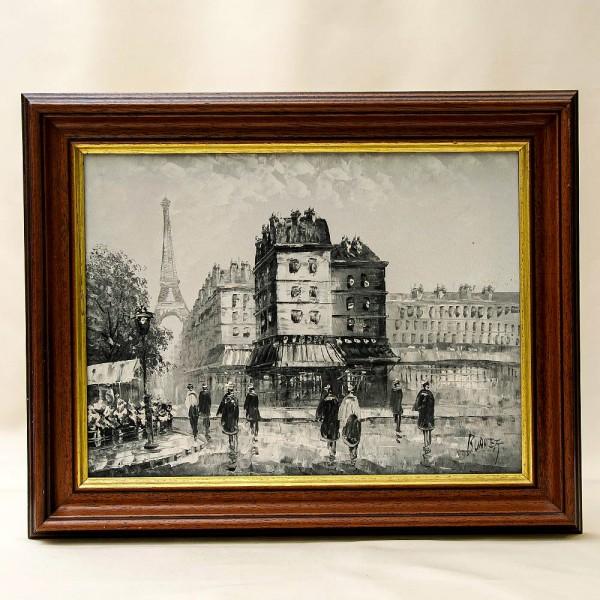 Художественная Картина Пейзаж «Улочки Парижа». Франция-США, первая половина ХХ века.