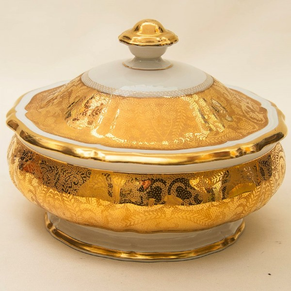 Винтажная «Тюрина» - Соусник или Судок с Крышкой для готового блюда, Фарфор, Rosenthal, Германия.
