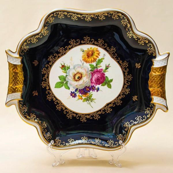 Коллекционное Сервировочное Блюдо - Поднос «Цветы Лета» Фарфор WEIMAR Германия