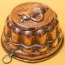 Винтажная Медная Форма для выпечки «Кофейник», Франция, середина ХХ века!