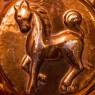 Винтажная Медная Форма для выпечки «Лошадка», Франция, середина ХХ века!