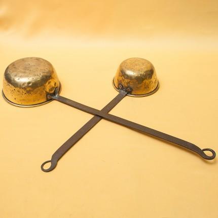 Два Старинных Латунных Ковшика - Черпака разных размеров Франция, 30 -е годы ХХ века!