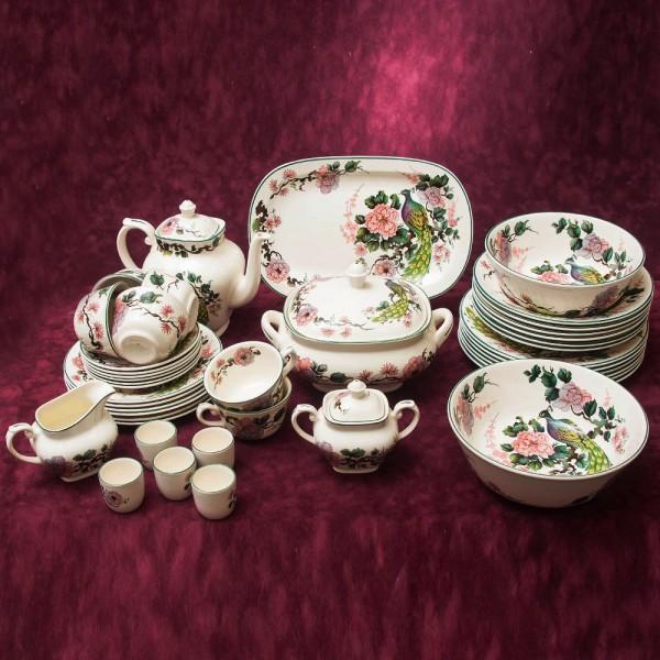 Чайно - Столовый сервиз «Экзотический Сад» на 6 персон 42 предмета, Myott Meakin, Англия 60-гг.