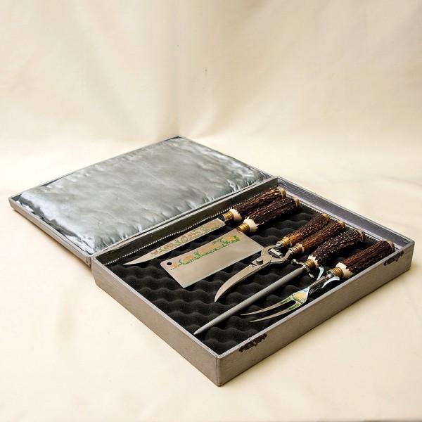 Набор для Барбекю «Охота» - 5 предмета, Германия, ANTON WINGER Solingen, 50 -е гг.
