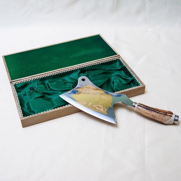 «Охота» - Настоящий Разделочный Топорик в деревянной коробке, Германия, Wickuler Solingen, 80 -е гг.