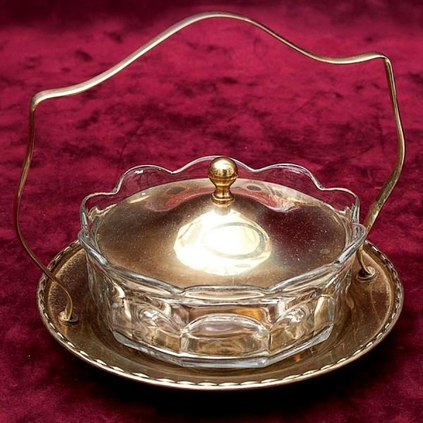 Вазочка - Сахарница - Соусница - Орешница, SHEFFIELD Англия Silverplate, 60 -е годы ХХ века.