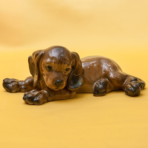 Фарфоровая Статуэтка Собака, «МАЛЕНЬКАЯ ТАКСА», ROSENTHAL,  Германия, 1934-1956 годы ХХ века.