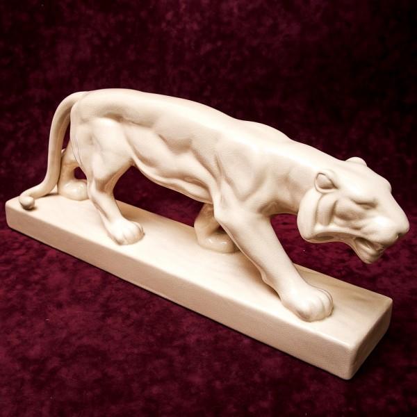 Очень Большая!!! Фаянсовая Скульптура - Статуэтка «Бенгальский Тигр» LUX, Бельгия середина ХХ в.