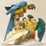 Большая Фарфоровая Статуэтка «Птицы - Попугаи АРА», Hutschenreuther,  Германия -1955 год.