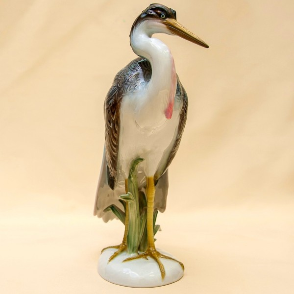 Редкость!!! Птица - Фарфоровая Статуэтка «Малая ЦАПЛЯ» ROSENTHAL Германия -1964 год.