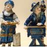 Парные Фарфоровые Статуэтки «Мальчик с Шарманкой и Девочка с Подносом» ФОЛКСТЕД - VOLKSTEDT  Германия.