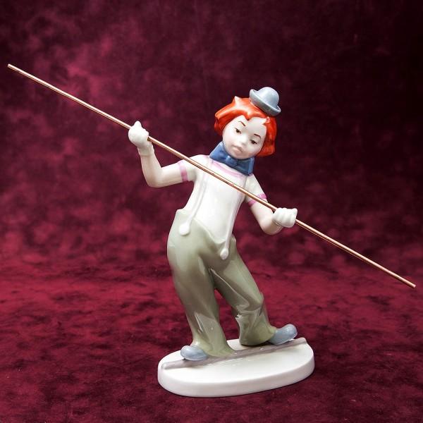 Коллекционная Статуэтка «Клоун-Канатоходец» Фарфор, Goebel, Германия, 1985 год.