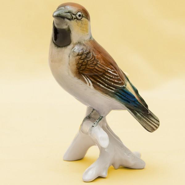 Птица - Фарфоровая статуэтка «Воробей», Карл Энц / Karl Enz,  Германия, 50-е годы ХХ века.