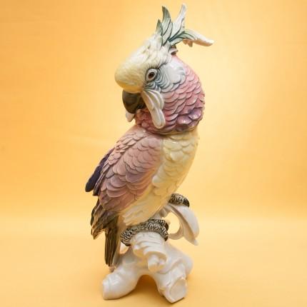 Большая Фарфоровая Статуэтка «Розовый Какаду» Н -36 см., Карл Энц / Karl Enz,  Германия, 50-е годы ХХ века.