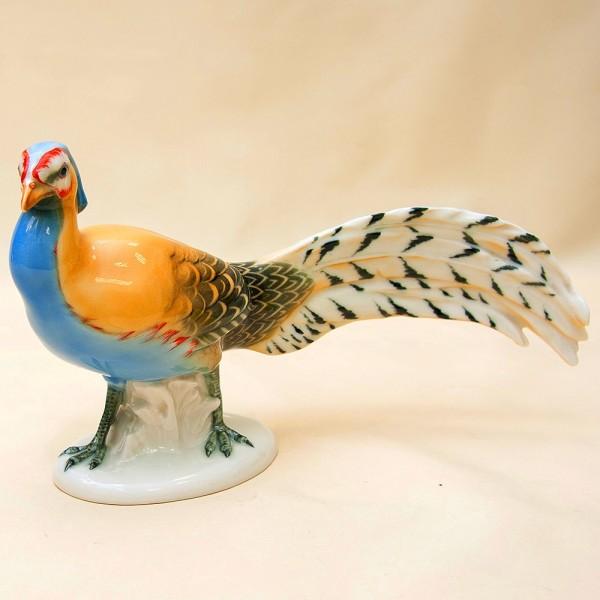 Птица - Фарфоровая статуэтка «Королевский Фазан», Карл Энц / Karl Enz,  Германия -1936 год.