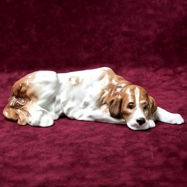Редкость!!! Фарфоровая Статуэтка «Собака - СПАНИЕЛЬ», Карл Энц / Karl Enz,  Германия, 30-е гг.