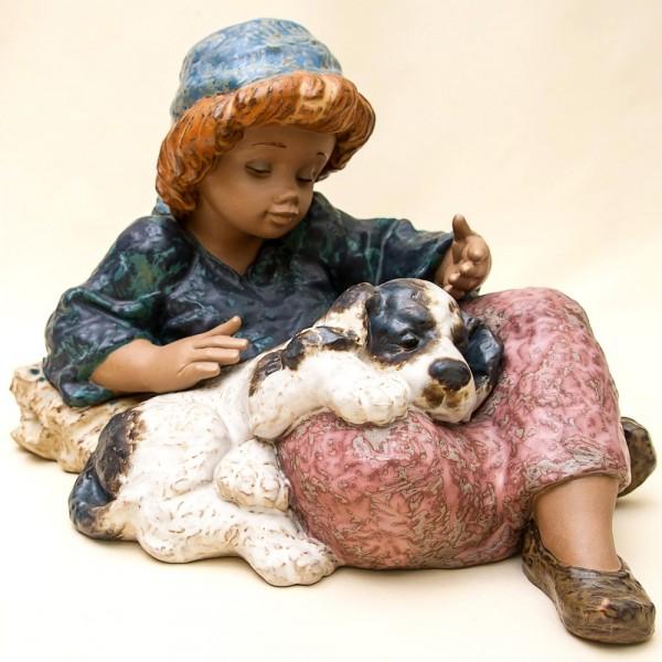 Большая Коллекционная Фарфоровая статуэтка «Что за день!» Lladro, Испания - 1989 год.