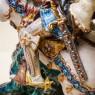 Большая Статуэтка «ГЕОРГИЙ- ПОБЕДОНОСЕЦ», Фаянс Eugene Pattarino CAPEF, Италия 1956 г.