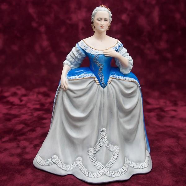 Фарфоровая статуэтка Императрица «ЕКАТЕРИНА ВЕЛИКАЯ», Franklin Porcelain, США 1983 год.