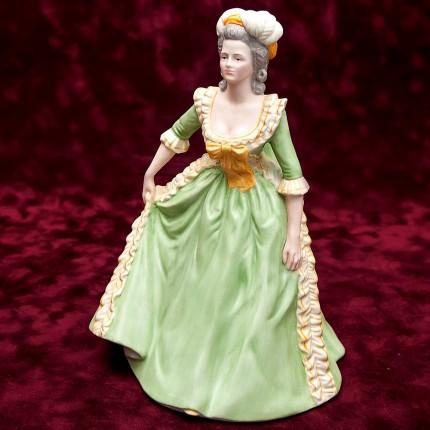 Фарфоровая статуэтка Королева «МАРИЯ АНТУАНЕТТА», Franklin Porcelain, США 1982 год - Н-21,5 см.