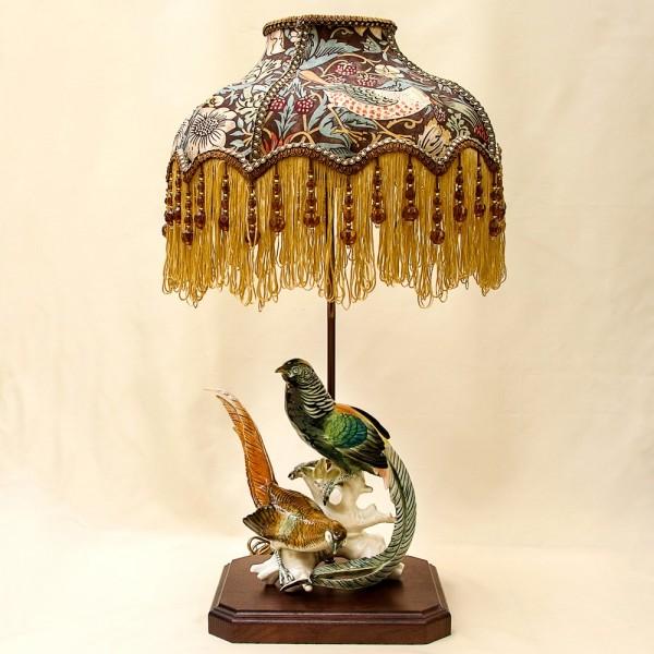 Настольная Электрическая Лампа - Светильник «Райские Птицы» Карл Энц / Karl Enz, Германия.